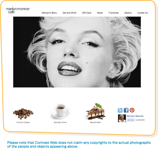 Marilyn Monroe Cafe Homepage